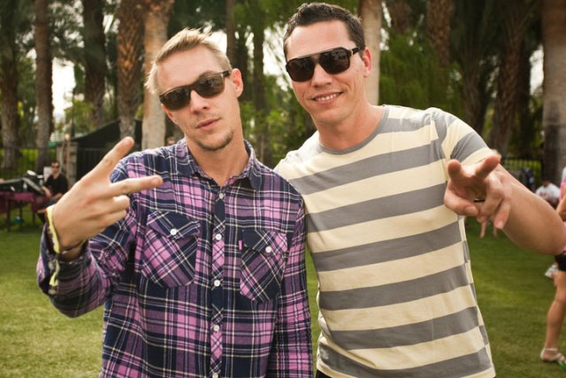 Photo de DJ Tiësto & son ami  Diplo
