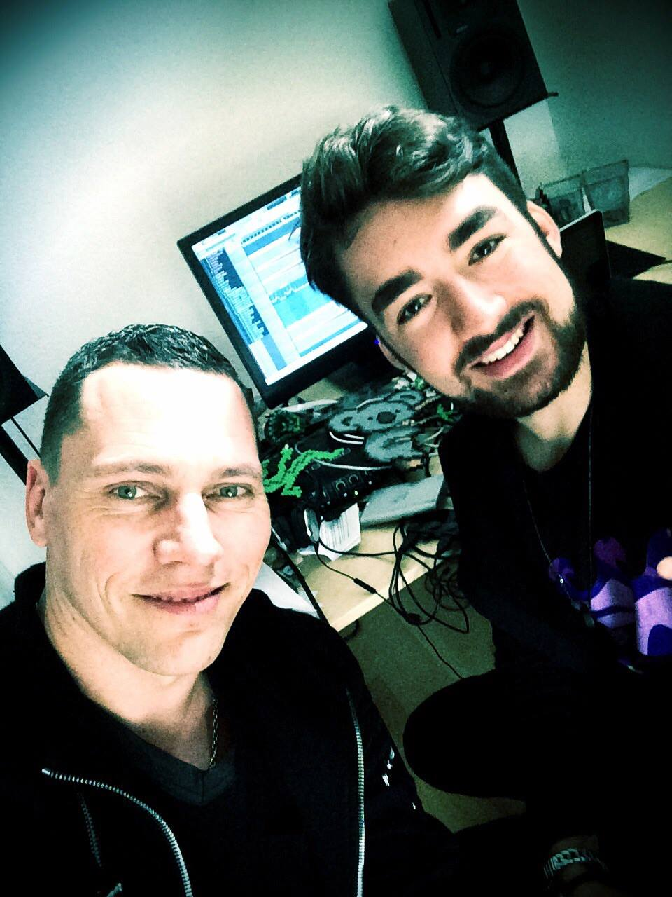 Oliver Heldens and Tiësto in the studio!