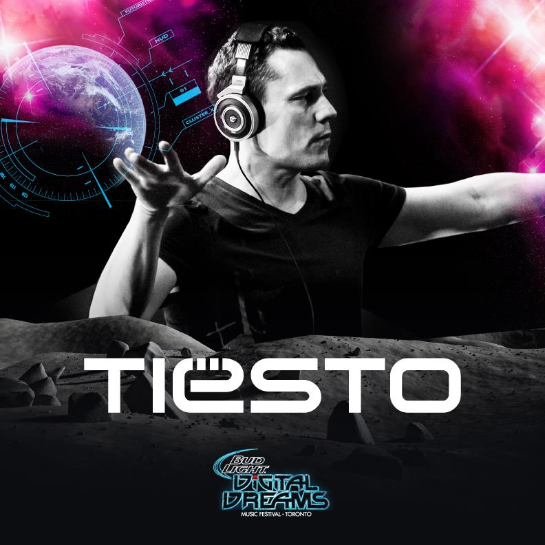 Tiesto Digital Dreams Music Festival 2014 Flyer
