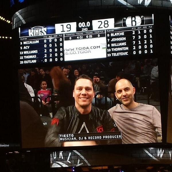 Tiesto At The Brooklyn Nets Game