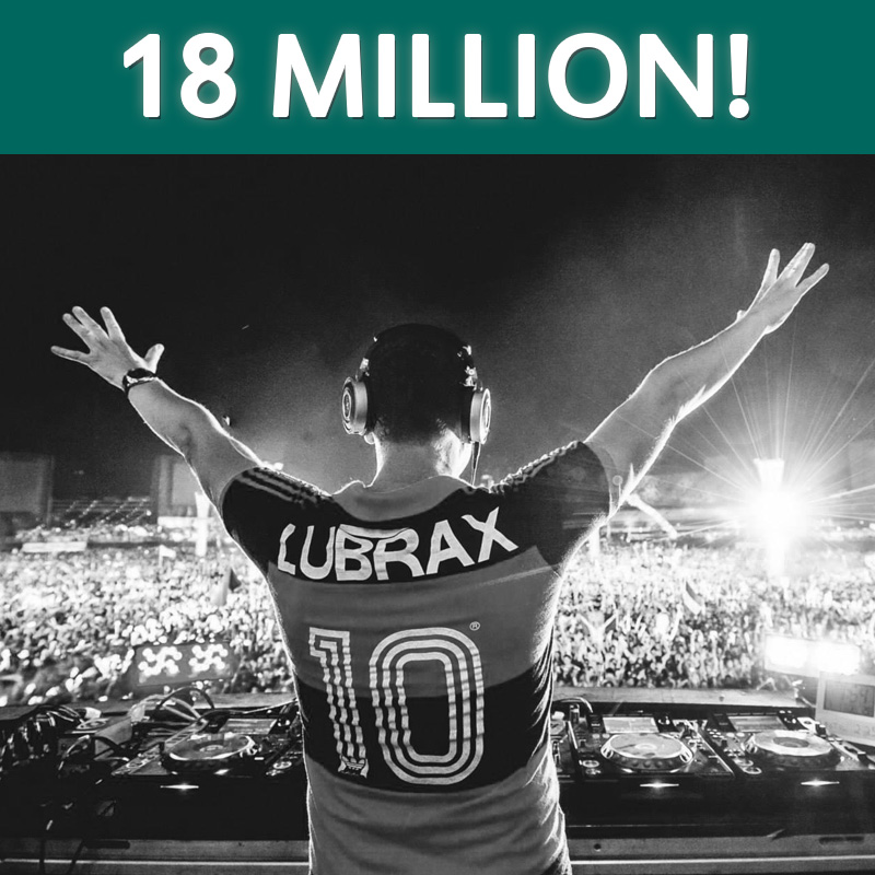 Tiesto 18 Million Fans on Facebook
