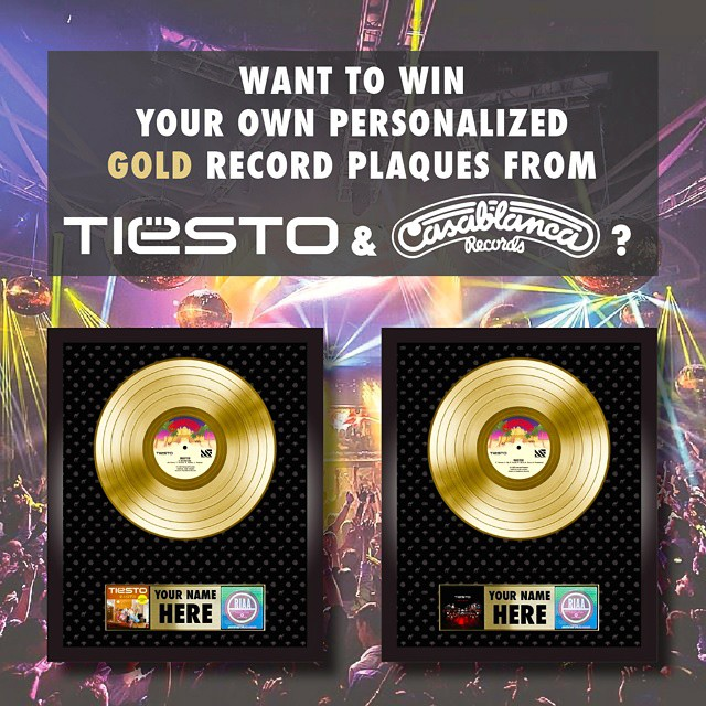 Tiësto Gold Record Giveaway