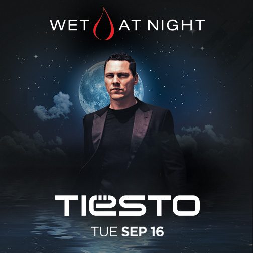 Tiësto - Wet At Night Flyer